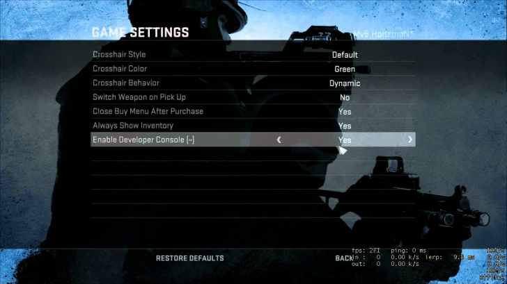 Global Offensive Pro Settings